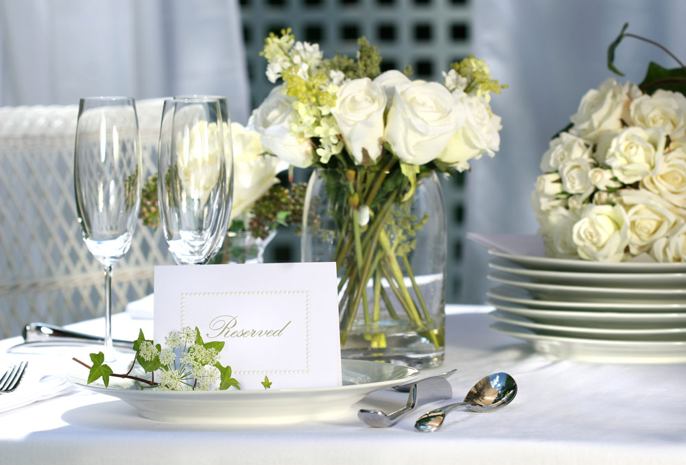 Table Linen With Flowers