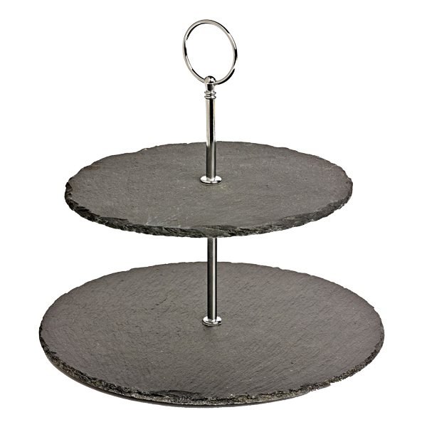 2 tier natural slate tray hire