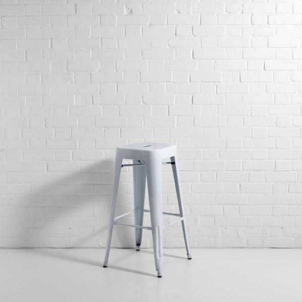 bistro bar stool white