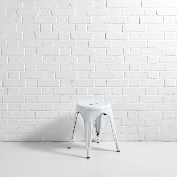 bistro low stool white