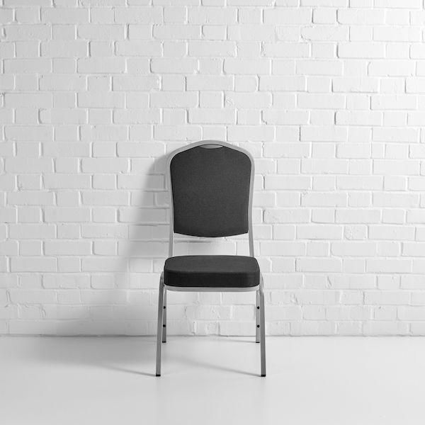 black banquet chair front