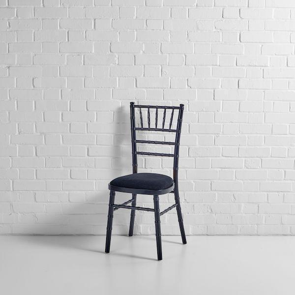 black chiavari chair front