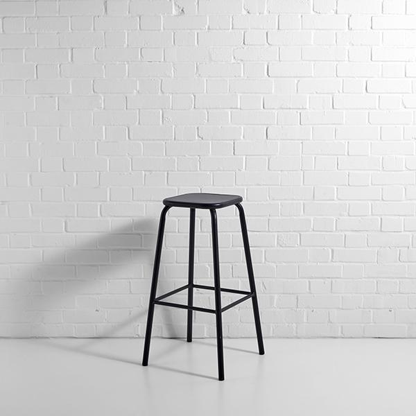 black metal lab stool hire