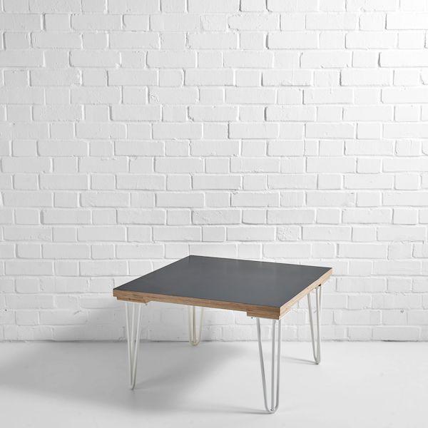 black scandi side table white leg