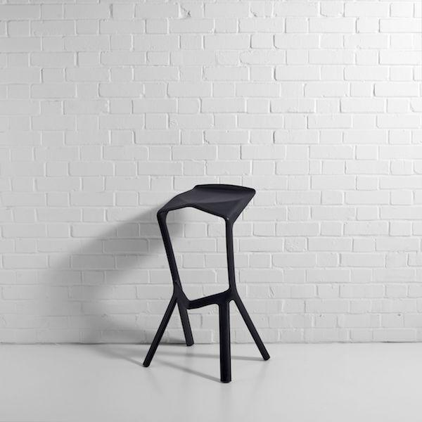 black shuttle bar stool hire