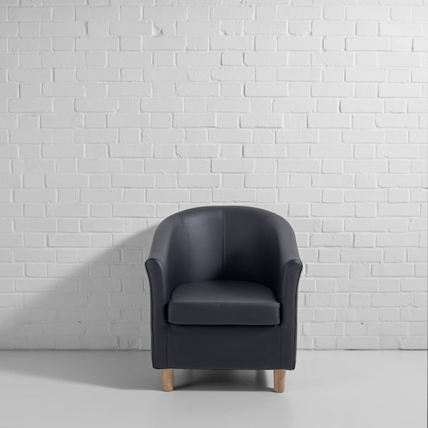 black tub chair f