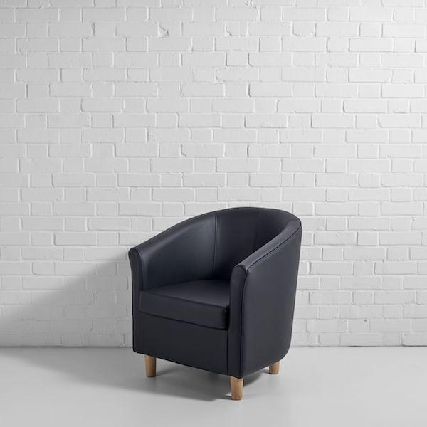 black tub chair hire