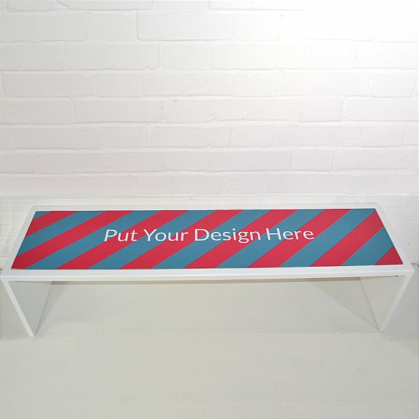 branded exhibition bench