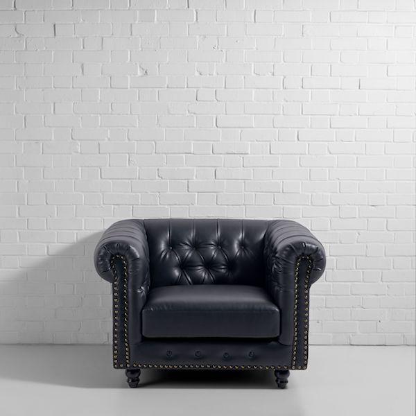 chesterfield armchair hire black