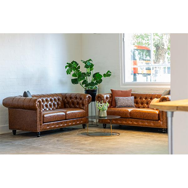 chesterfield brown sofas