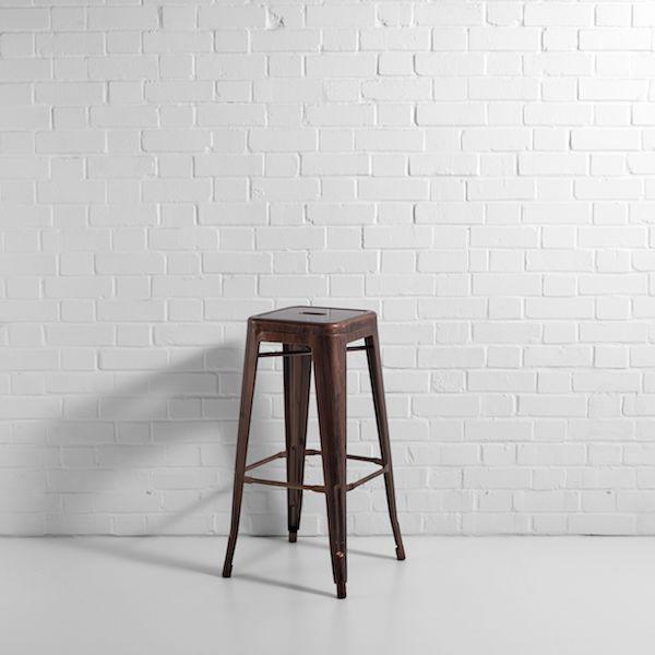 copper bronze bistro bar stool