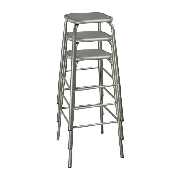 distressed lab stool stacked