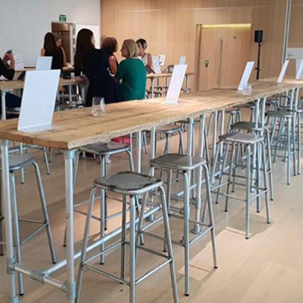 distressed lab stools