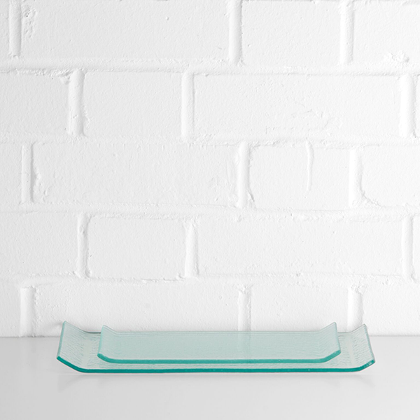 glass serving platter hire