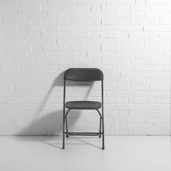 gray folding chair hire f