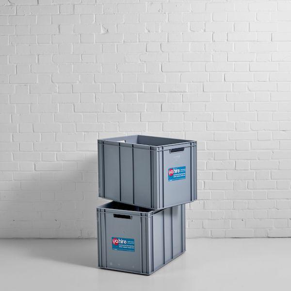 large grey ice box hire
