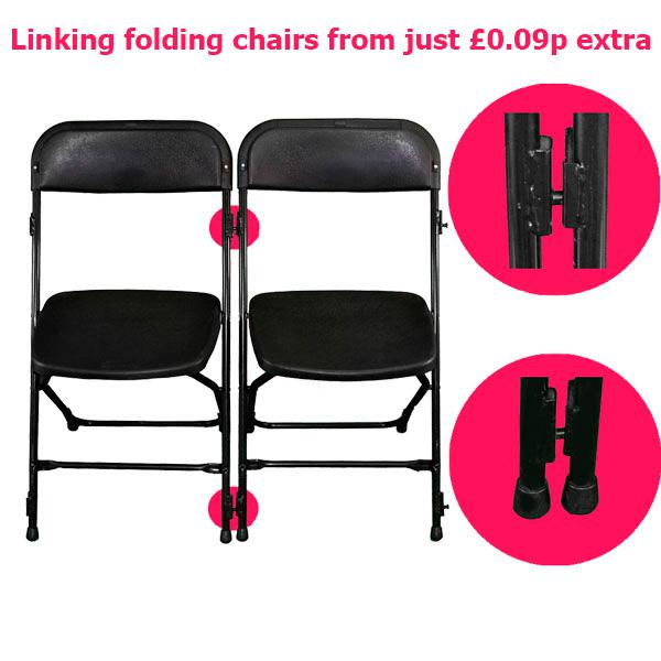 linking folding chair hire