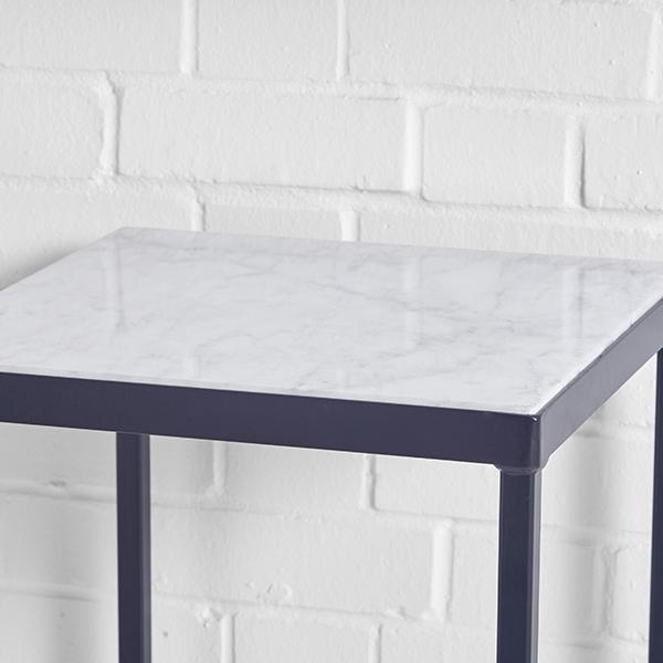 lisbon high table white top