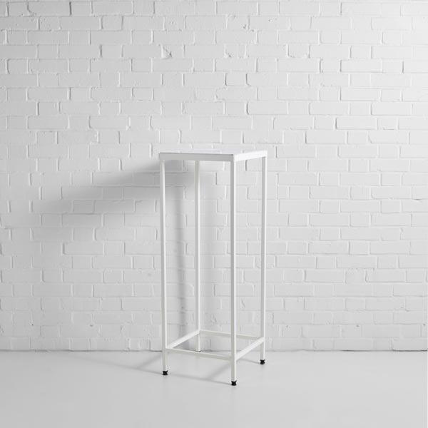 lisbon high table white