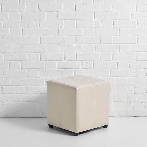 ottoman cube hire cream