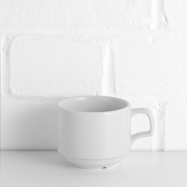 porcelite stacking cup hire