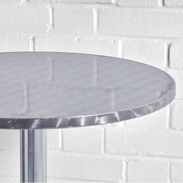 poseur table aluminium top