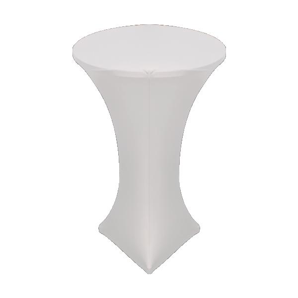 poseur table linen hire white