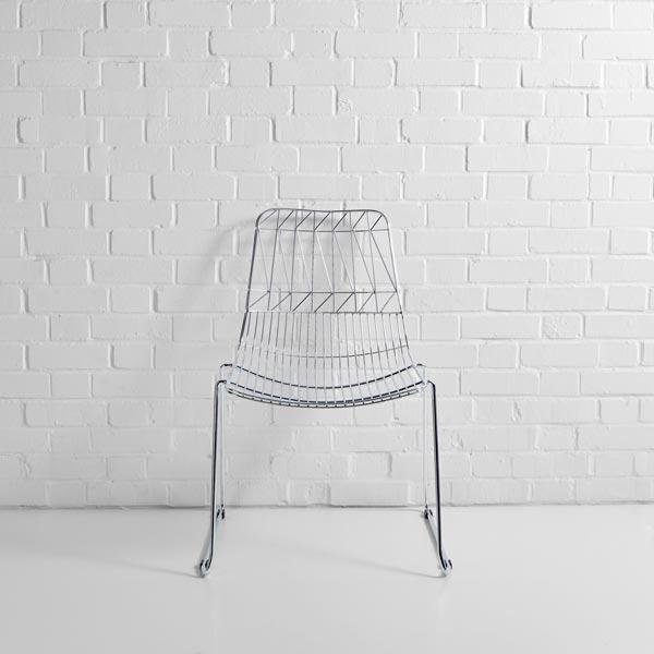silver simplicity wire chair hire f