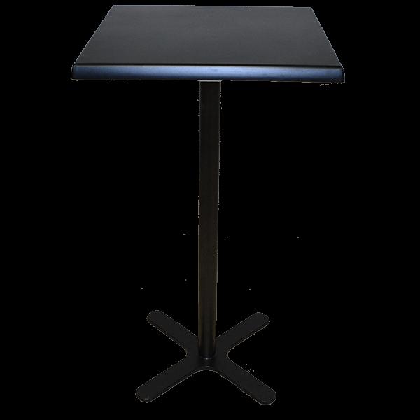square black poseur table hire
