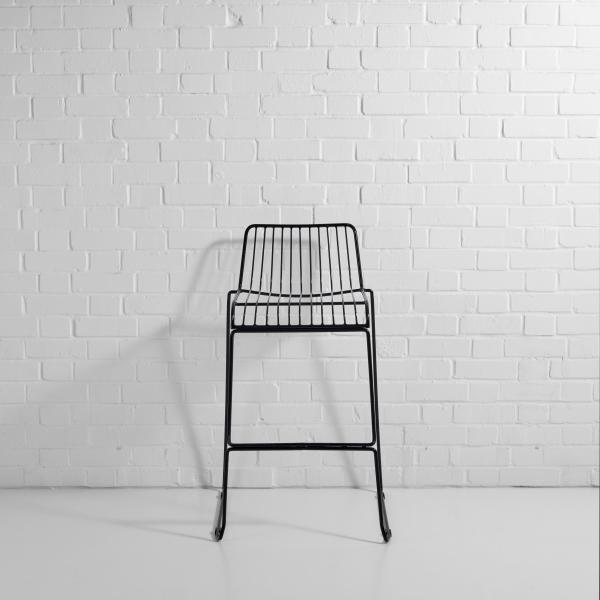 steel wire bar stool black f