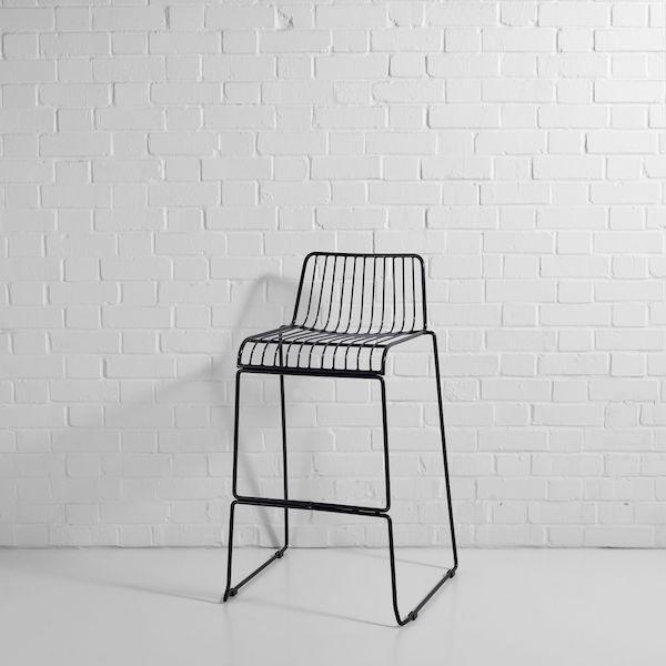 steel wire bar stool black
