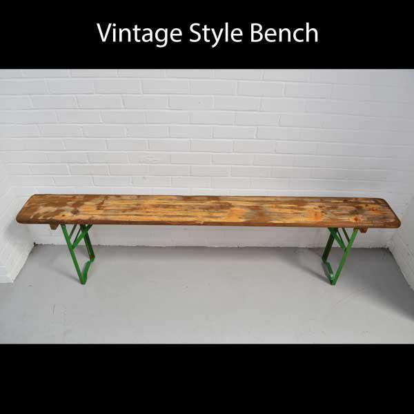 vintage bench hire