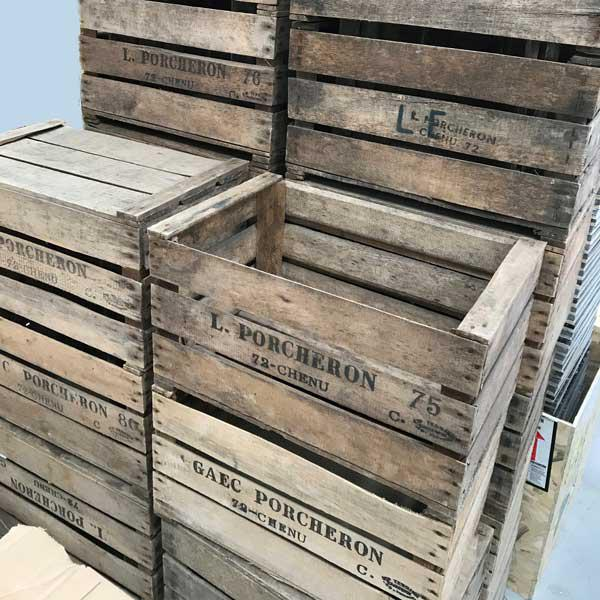 vintage crate stacked