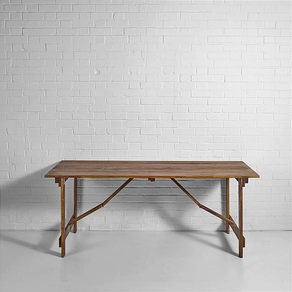 vintage trestle table hire