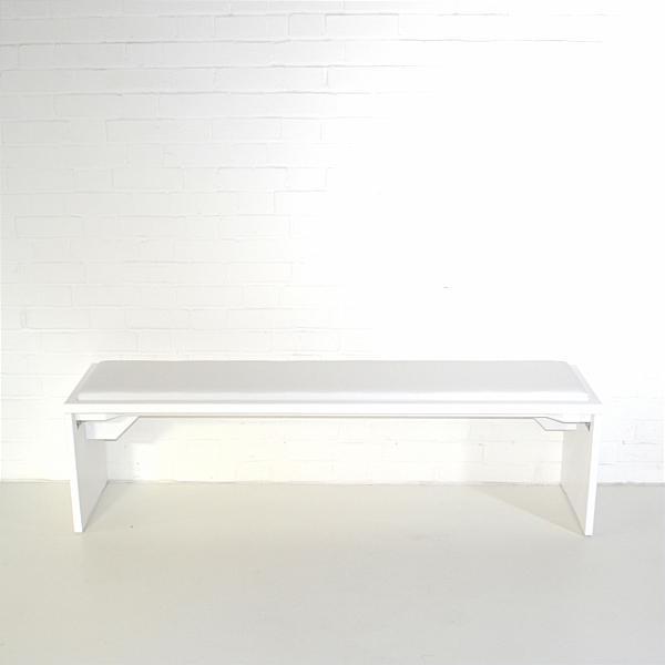 white exhibition bench hire