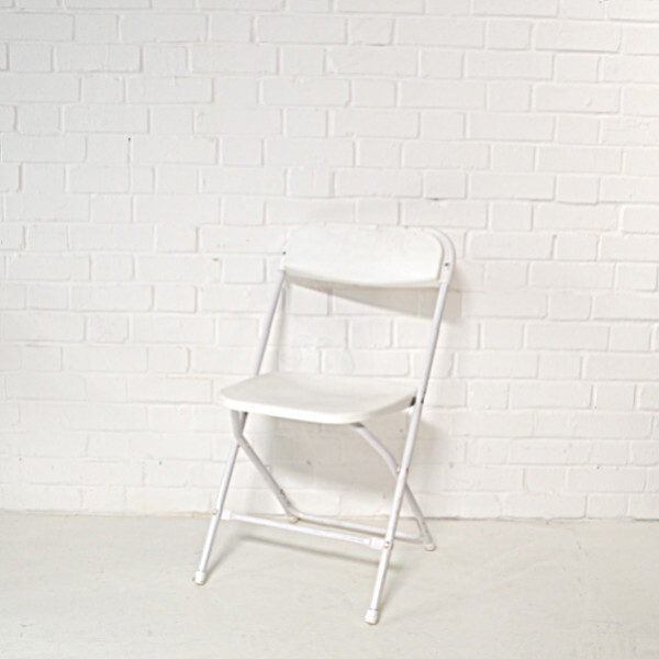 white folding chair hire2