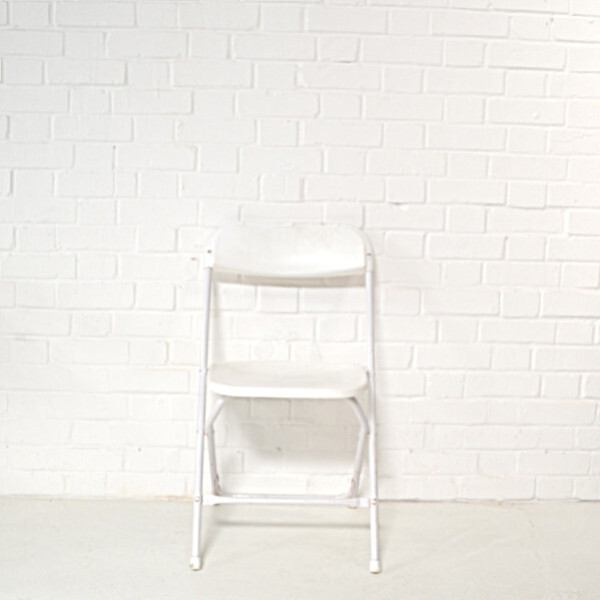 white folding chair hire3