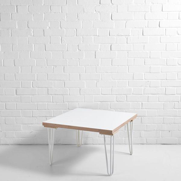 white scandi side table white legs