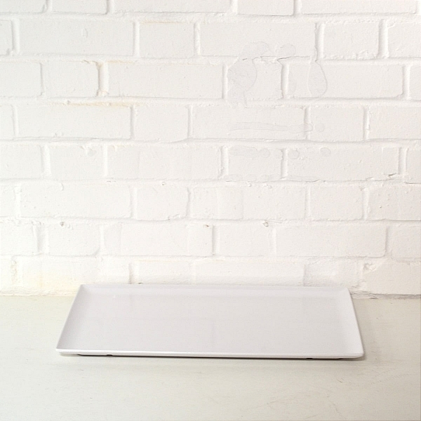 white serving tray hire