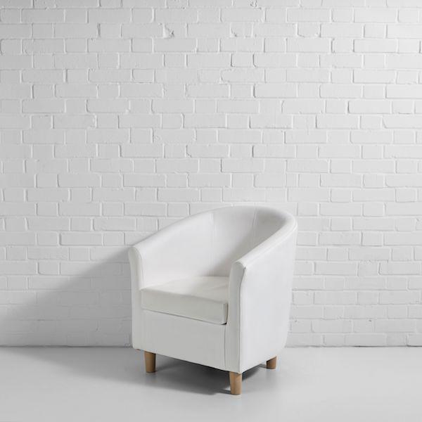 white tub chair hire 45