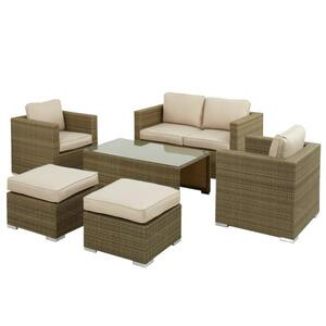6 Seat Rattan Furniture Set Hire