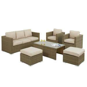 7 Seat Rattan Furniture Set Hire