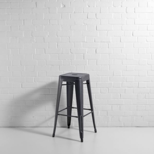 Bistro Bar Stool Grey