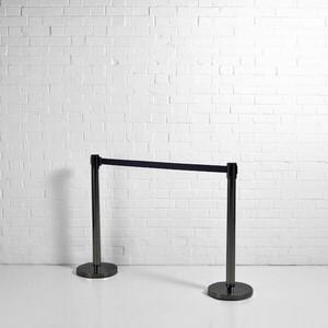 Black Post Tensa Barrier