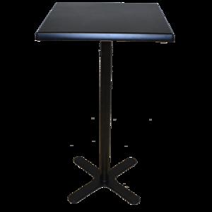 Black Square Poseur Table (Black legs)
