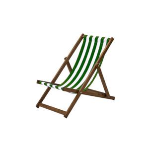 Green Stripes Deck Chair Hire
