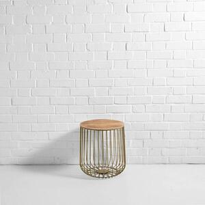 Gold Birdcage Side Table (Small)