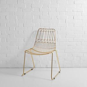 Gold Simplicity Wire Chair