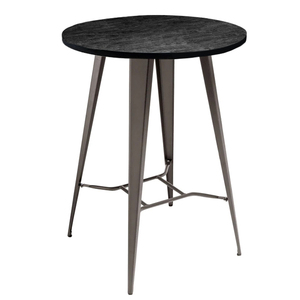 Round Industrial Poseur Table