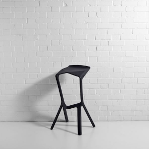 Shuttle Bar Stool Black